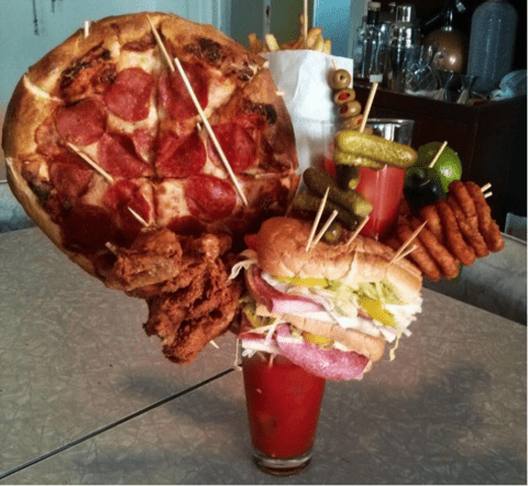 how many calories are in a bloody mary
