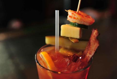 loaded bloody mary drink